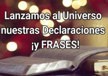 Lanzamos al Universo nuestras Declaraciones  ¡y FRASES! 3