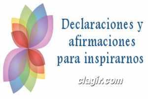 Declaraciones y afirmaciones para inspirarnos