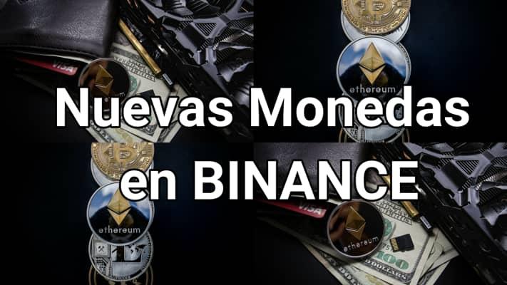nuevas monedas en binance